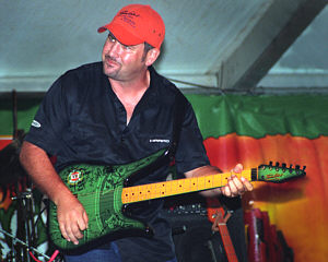 Col Finley playing the Limited Edition Tomkins VB Guitar