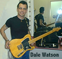 Dale Watson with his Tomkins Guitar