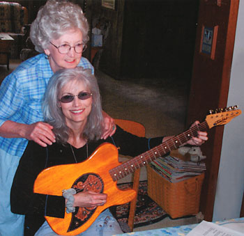 Rose Lee Maphis and Emmylou Harris