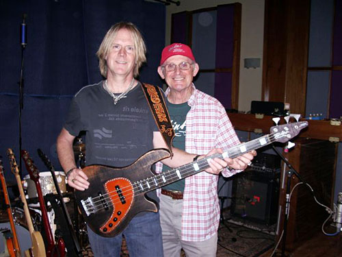Aerosmith's Tom Hamilton with Allan Tomkins